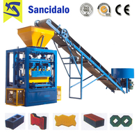 Low price concrete hollow block making machine philippines qt4