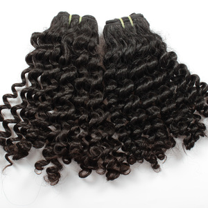 affordable price 8a mongolian afro kinky human hair weft