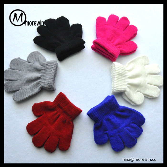 Morewin gloves wholesale custom acrylic glove multi color kids magic stretch gloves