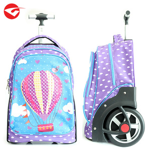 Newest cute teenage girls travel trolley luggage bag with big wheels