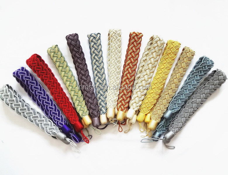 Buckle Holdback Fabric Drapery Tassels Curtain Tiebacks