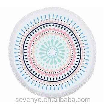 Hot Sale Australia Mandalas Round Beach Towel Blue/pink Bt-557 ...