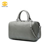 Women's Pure Color Weenkender Duffle Luggage Travel Tote Genuine Leather Handbags Bag