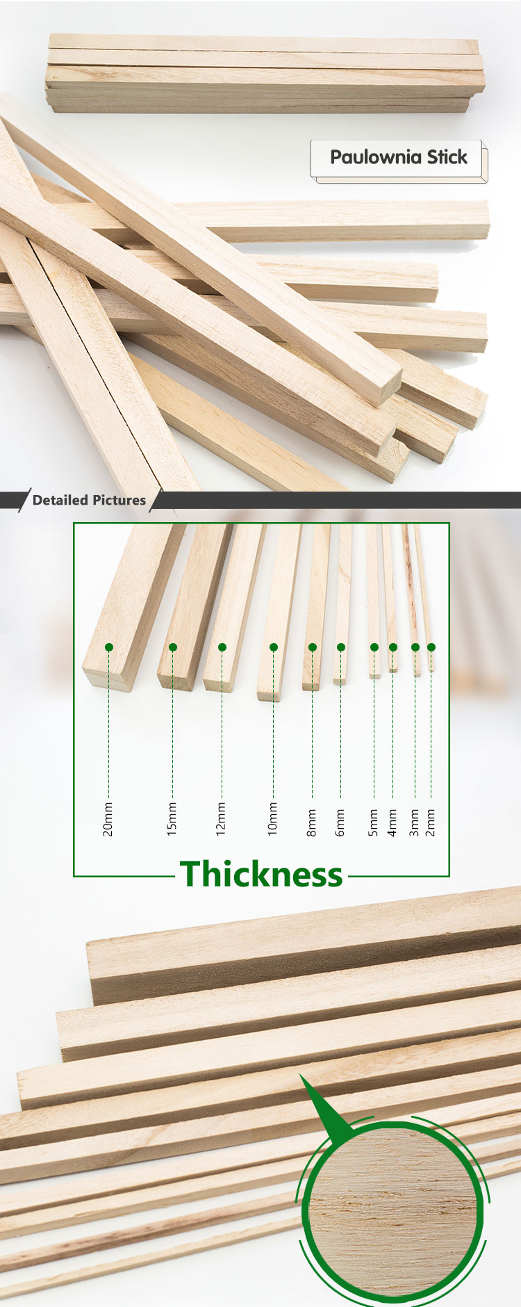 Sell Buy 2Mm 3Mm Paulownia Material Sawn Lumber Tomentosa Elongata Wood Price Supplier For Sale Slats Solid Paulownia Wood Strip