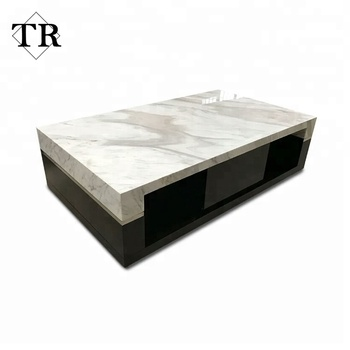Luxury Furniture White Marble Coffee Table Marble Center Table