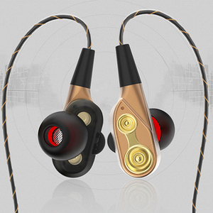 Latest innovative OEM headphones from china manufacturers with dual driver units stylish in-ear earphone