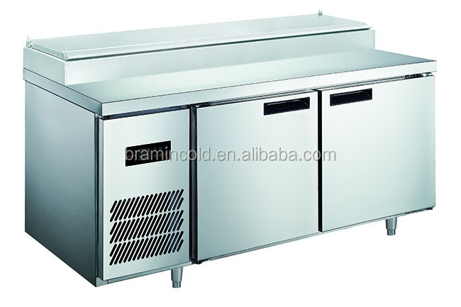 Pizza display refrigerator/Refrigerated pizza table for sale, pizza table refrigerat