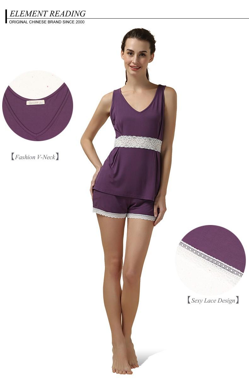 bb568b776a2 2019 Wholesale Hot Tall Womens Pajamas Modal Short Vneck Womens Plus ...