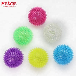 Popular New Style Pet TPR Spike Ball Toys Interactive Squeaky Dog Toys