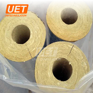 Waterproof mineral rock wool pipe/tube with aluminum foil widely used insulation thickness 25-180mm