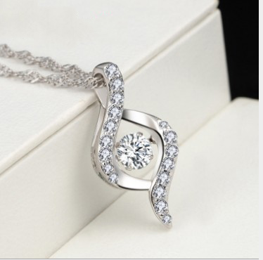 LH01 will dance necklace Korean fashion S925 sterling silver necklace female clavicle chain trade assurance service