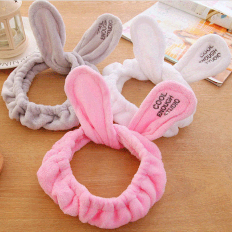 Cute Big Rabbit Ear Soft Towel Hair Band Wrap Headband