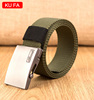 man style polyester belt with ball bearing buckle