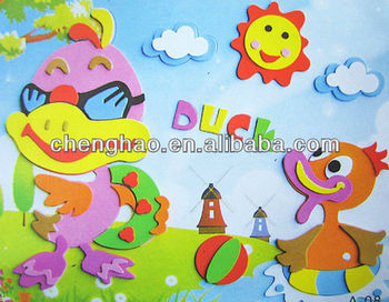 3d Diy Duck Wall Painting Eva Draw Buy Glass Painting Drawings