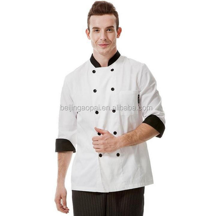 Keuken Chef Jacket Uniformen Franse Designer Hotel Kok Kleding Jassen executive chef uniform