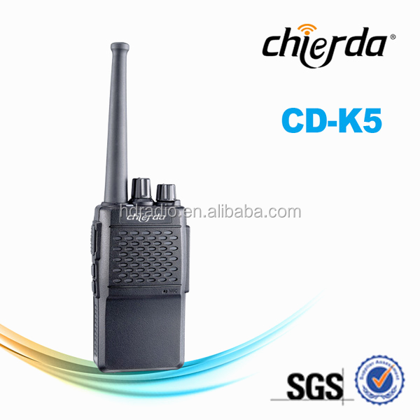 Handheld Two-way Radio with 2w power, UHF frequency range, 16 stored channels, CTCSS/DCS CD-K5