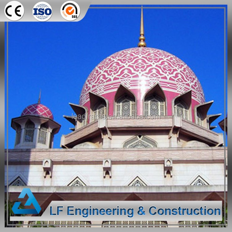 Galvanized light steel grade mosque dome with fiberglass roof