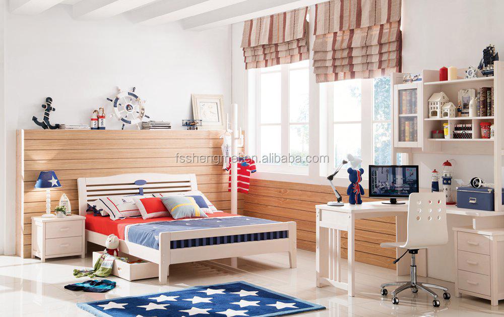 New european style children bedroom sets pine wood kids - Childrens pine bedroom furniture ...