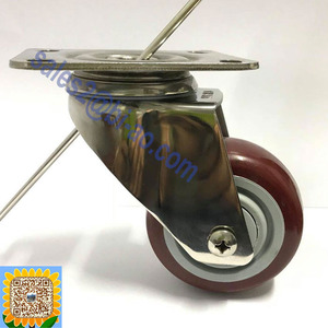 "Wholesale Quality 95KG Non-marking Polyurethane Wheel 3"" Stainless Steel Swivel Caster"
