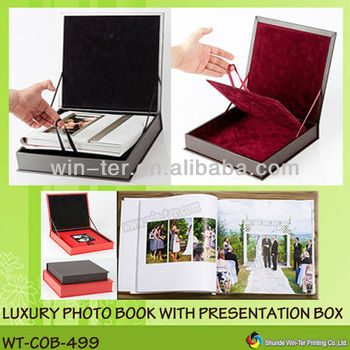 Luxury Photo Book Album With Gift Box For Wedding Wt-cob-499