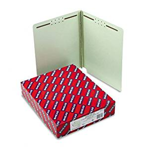 """Smead : Pressboard Folders, 3"""" Expansion, 2 Fasteners, Straight End Tab, Ltr, GG, 25/Bx -:- Sold as 2 Packs of - 25 - / - Total of 50 Each"""
