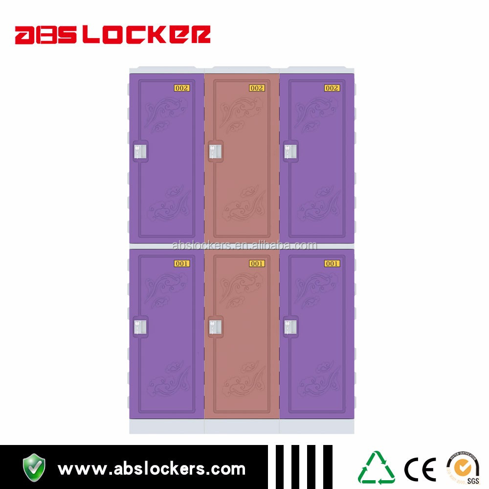 two compartment abs lockers for Gymnasium charging roon