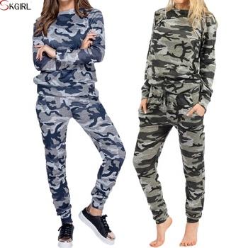 27ed6b04 Женщины с длинным рукавом Повседневные кроссовки Спорт Полный Leopard и  камуфляжным принтом черной отделкой 2 шт