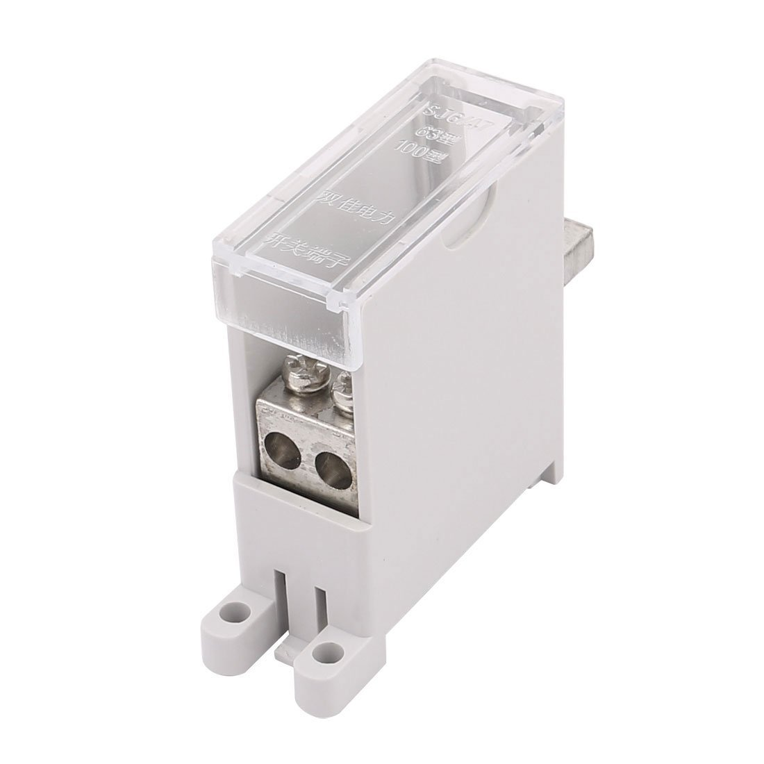 uxcell DZ47 Switch Terminal Wire Barrier Block 1 Inlet 2 Outlet for Miniature Circuit Breakers