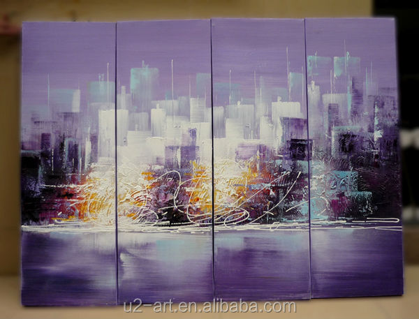 Living room wall pictures abstract group oil painting