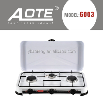 Electric Table Top Gas Stove 3 Burner