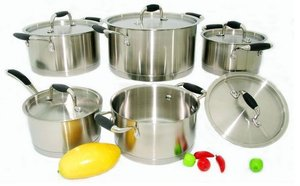 10-piece Stainless Steel camping cookware sets kitchen