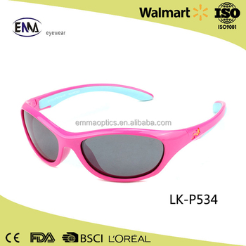 8538f78c7f53 Baby sunglasses TAC Polarized Rubber Silicone Frame soft kids sunglasses