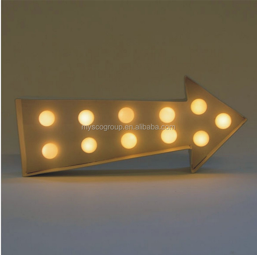 Arrow light Contemporary Battery Operated White Arrow Shaped LED Decorative Light Sign Vegas Metal LED Circus Light - Arrow RAW