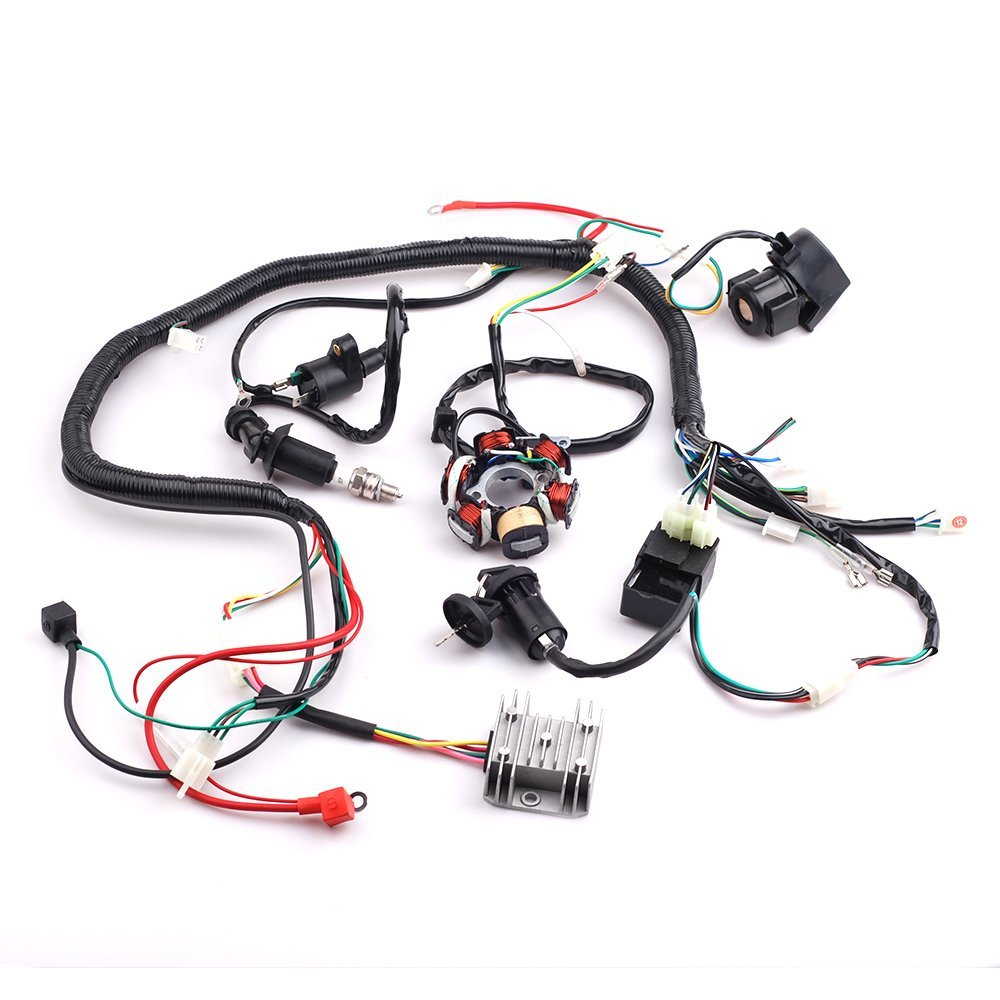 Cheap 4 Stroke Atv Stator Find Deals On Line At Wiring Harness Wireloom 50cc 110cc 125cc Quad Bike Get Quotations Cisno Complete Electrics Wire Loom Magneto For Gy6 Engine Type