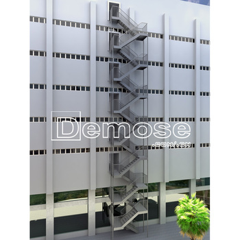 Emergency Stair/industrial Spiral Stairs/steel Structure Stairs