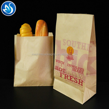 Eco-friendly printed bread packaging paper packaging bag