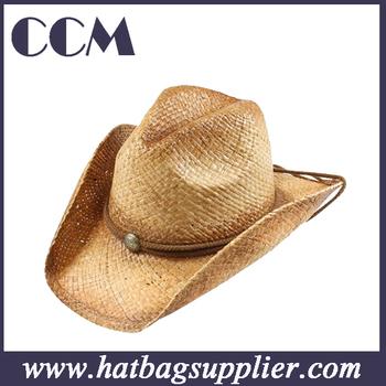 838f0baba7661 Fashion Wholesale Western Bulk Straw Cowboy Hats With Cross Stitching