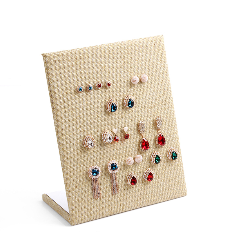 Free shipping Linen Material display shelf board pin earrings jewelry  display stand earring holder jewelry box store shelf