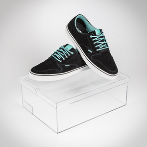 custom design Kids acrylic shoes box, transparent plastic shoes storage box for nike, box for shoes