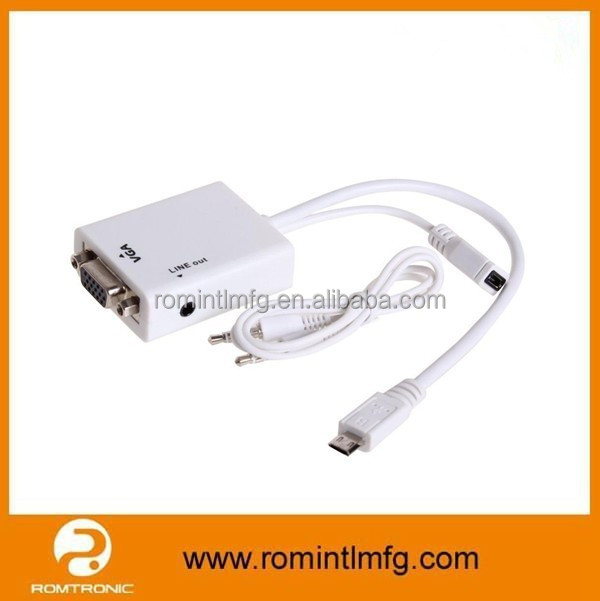 High Quality MHL to VGA Adapter Cable for Samsung Galaxy 3
