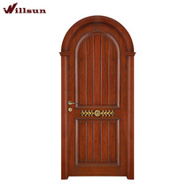 American Style Wood Half Dome Door Design Round Top Door