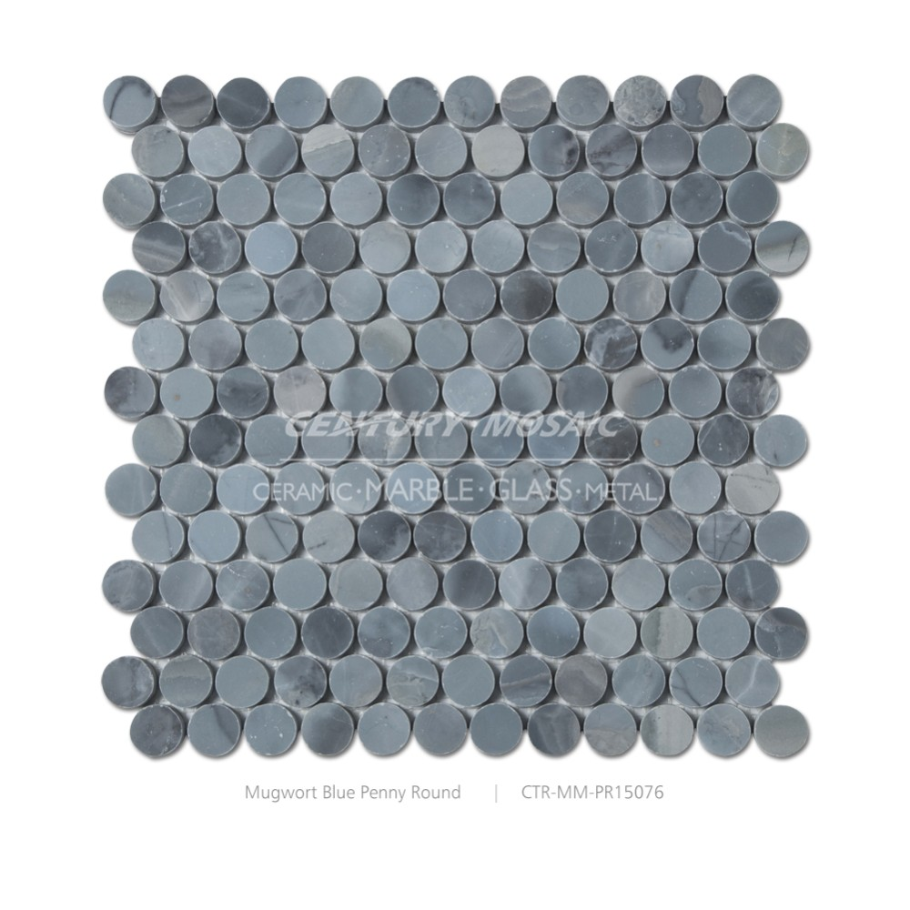 Wholesale mugwort blue marble 1 penny round mosaic tile flooring wholesale mugwort blue marble 1 penny round mosaic tile flooring dailygadgetfo Image collections