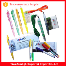 Promotional office stationery gift advertising pull out banner pen