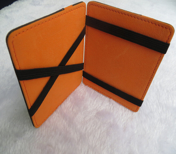 New design special leather magic wallets for card holders