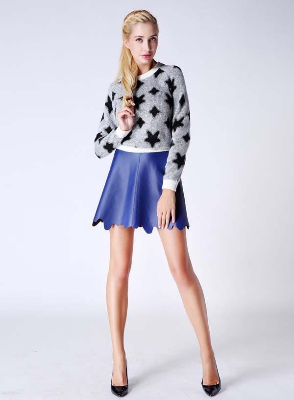 China Supplier Bestselling Special Hem Hot Girl Wearing Mini Skirt