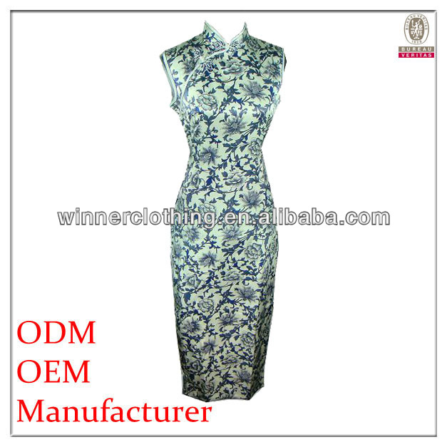 High quality silk stain new design chinese traditional dress