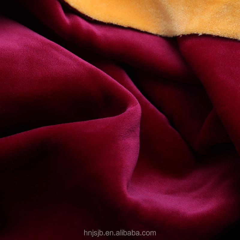 Spandex Super Soft Velvet Fabric for Sofa/Home Textile/Garments use