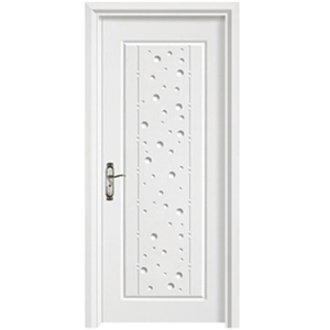 Low Price Interior Mdf Wooden Flush White Coated PVC Door Design For Room