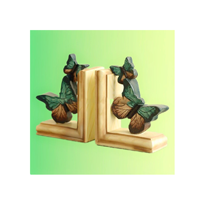 Hot sale plastic europe Vintage Style butterfly bookends animal bookends