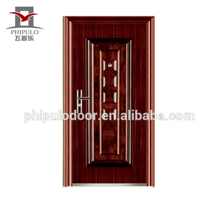 China manufacture standard aluminum video size steel security door with luxury design for sale